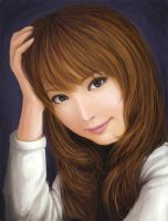 Portrait paintover by Serio555
