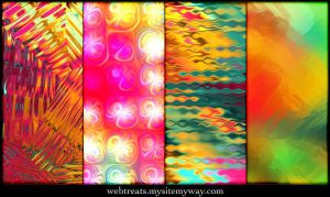 Tropical Abstract Patterns 2 by WebTreatsETC