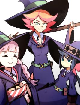 Little Witch Academia: Team Amanda by Omiza-Zu