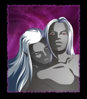 Drizzt and Zak by SiberianCat