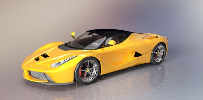 LaFerrari Yellow by TheRedCrown