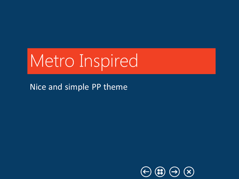 Metro Inspired PPT template by orajo