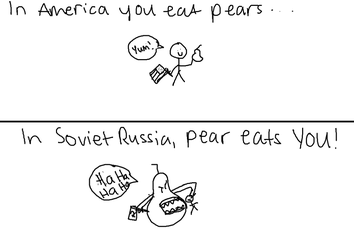In Soviet Russia, pear eats YOU! (ENGLISH VERSION) by sl1fka