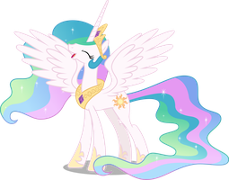 Princess Celestia is happy to see you (Vector) by Chrzanek97