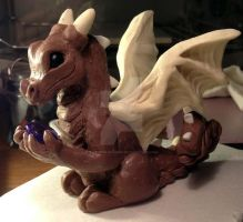 February's Birthstone Dragon work in progress by The-GoblinQueen