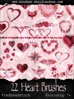GIMP Hearts Brushes by Project-GimpBC