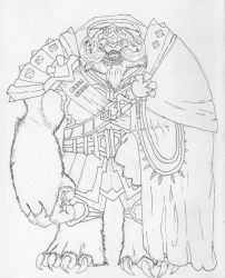 General Zhestok of the Mehkarvul- Linework by Loganius