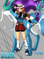 Blue and Suicune by ashmaykissy3