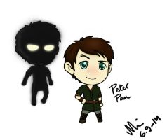 Once Upon a Time Chibified: Peter Pan by MelkeinHallittuKaaos