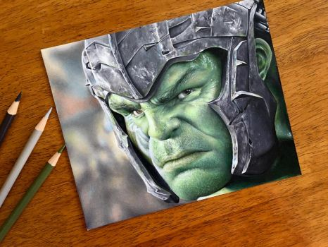 Drawing the Hulk | Thor: Ragnarok by AmongSakura