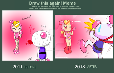 Draw it again meme - PrettyBomber...? by SailorBomber