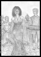 At the masquerade ball: pencil version from Book I by middaschronicles