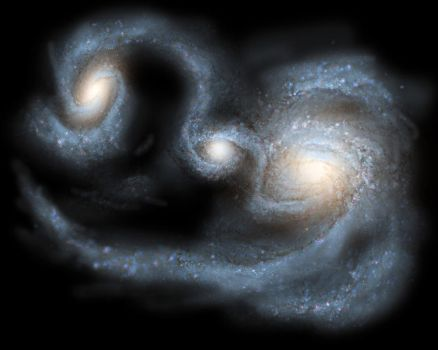 Collision of galaxies by Kexitt