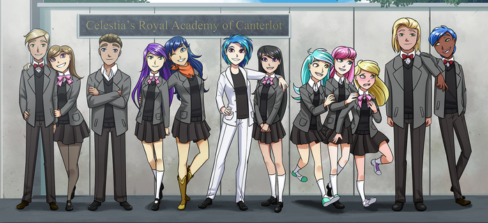 Commission : School photo by Kare-Valgon
