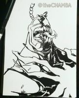 Inktober 2016 - 01 - the Tick by theCHAMBA