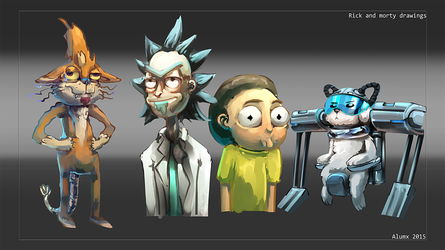 Rick and Morty artdump by Alumx