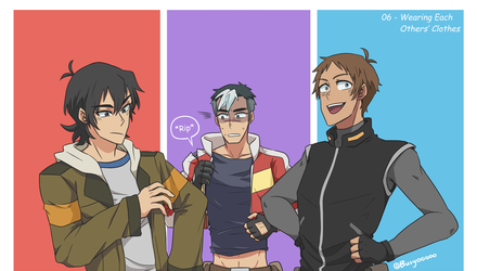 06-Wearing eachothers clothes (Shklance) by Buryooooo
