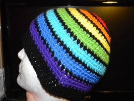 Rainbow to black hat side view by flangeez