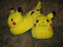 My Pikachu Slippers RL by Marquis2007