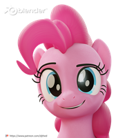 Pinkie Eyebrow Expression Render Test by TheRealDJTHED