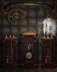Steampunk Background 4 by Kachinadoll