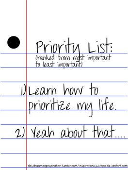 Priority List by inspirationisjustapo