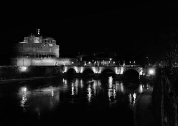 Castel Sant'Angelo at night 1 by Nekrov-Photography