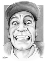 Jim Varney - Sketch of the Day by gregchapin