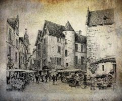 Sarlat old paper by nicolasjolly