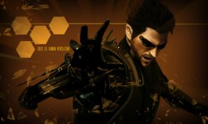 Deus Ex: Human Revolution - Adam Jensen by geekyglassesartist
