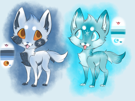 Chibi Froxes -adoptables- by SelkieTails