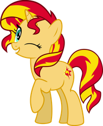 MLP Vector - Sunset Shimmer #1 by jhayarr23