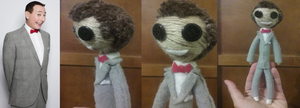 Peewee Herman yarn doll by Savamoth