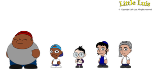 Little Luis Kid Characters by vannickArtz