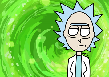 Rick from Rick and Morty by DaReelMSG