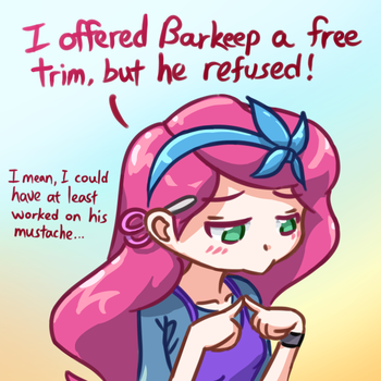 Terraria fan-art: Just wants to cut hair by Jon-Smitten