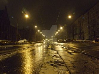 WrocLove at Night street by KlechaW