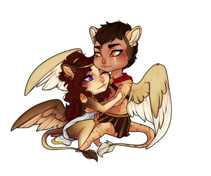 Chibi Cuddles by Rollie-Fola