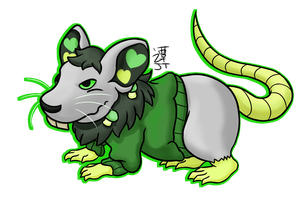 Olive Rat by PikachuJenn