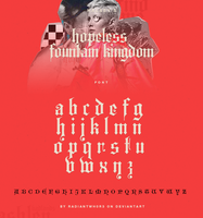 Halsey - Hopeless Fountain Kingdom / Font by RADIANTWH0R3
