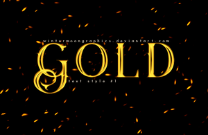 Gold Style by wintermoongraphics