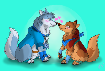Trade - David and Aquilla in Love by joshbluemacaw