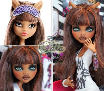 MH Clawdeen repaint #14 ~Tala~ by RogueLively