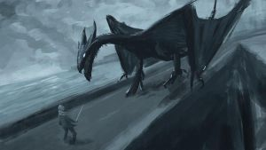 Dragon on the Causeway by the-least