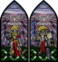 stained-glass window etude by forArkan
