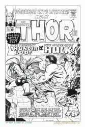 JOURNEY INTO MYSTERY #112 Thor vs Hulk RECREATION by DRHazlewood