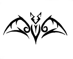 Tribal Bat Tattoo by acer1204