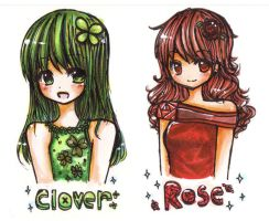rose and clover by mushomusho