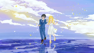 Your Lie in April - fanart by hyperai