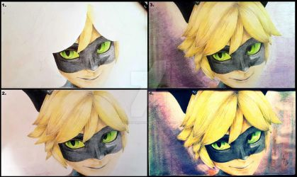Miraculous Chat Noir phases by LorettArtHun